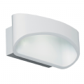Endon 5W LED white wall light - JOHNSON-WH